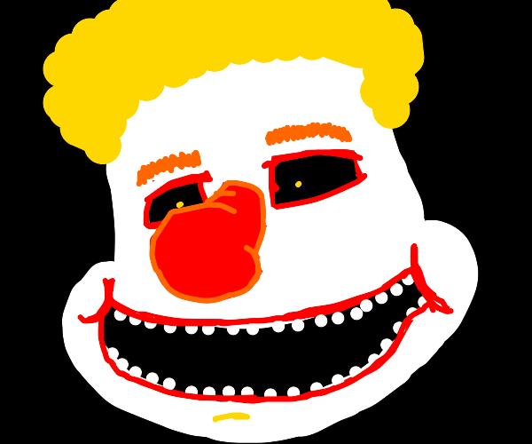 A very happy creepy clown