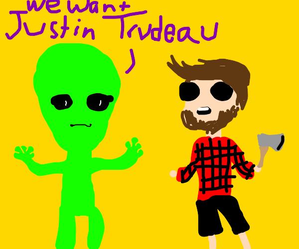 alien meets canadian