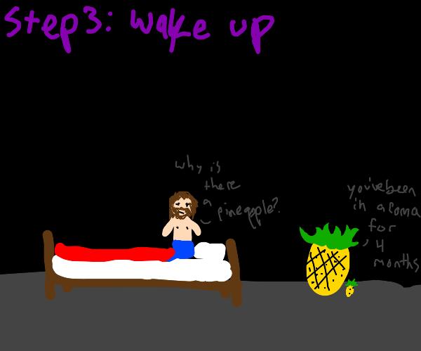 Step 2: sleep in until 12