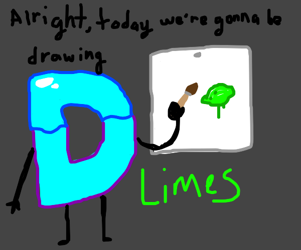 How to draw limes: drawception style