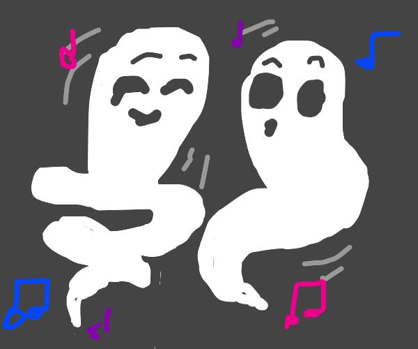 Ghosts dancing