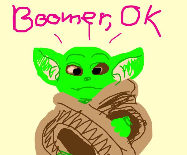 Baby Yoda Saying Okay Boomer