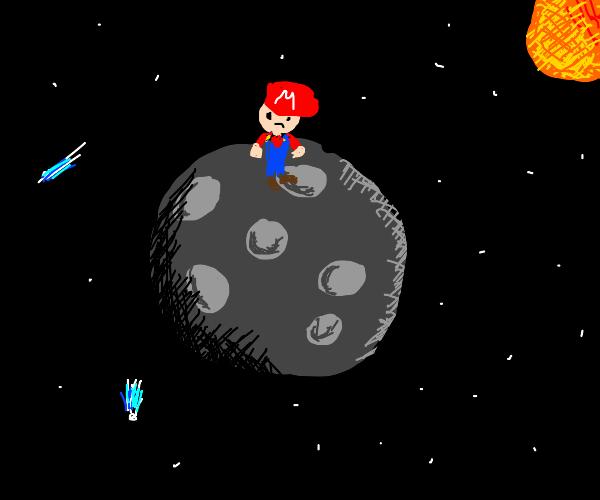 Mario on the Moon