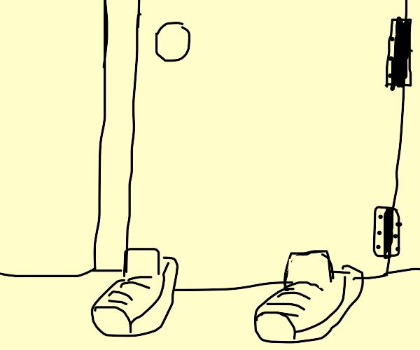 Door wearing Shoes