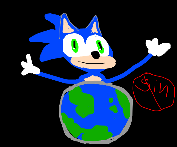 sonic cleanses the sins of the world