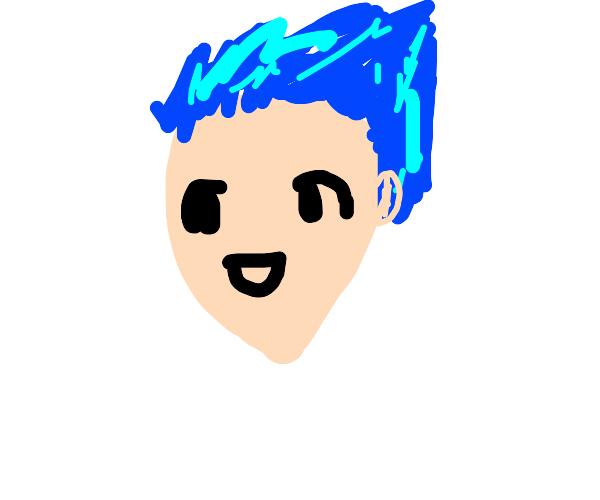 short haired, blue eyed anime girl