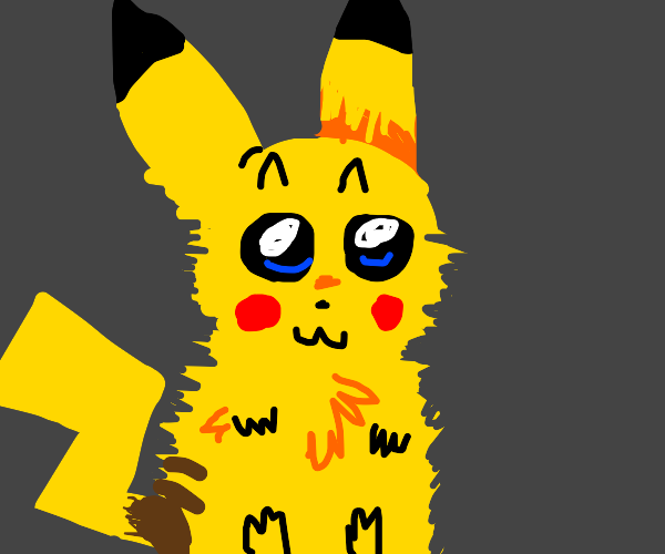 Fluffy pikachu looks beyond your soul
