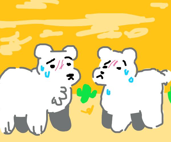Overheating polar bears