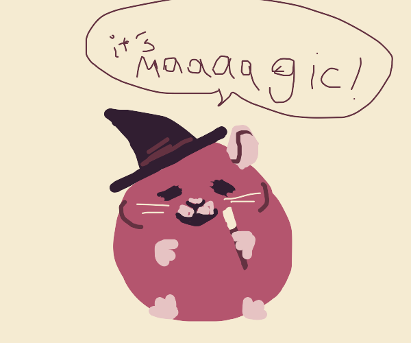 Insanely fat magician hamster