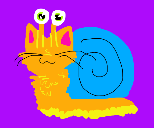 Snail kitten (snitten?)