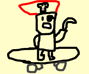skateboard pirate