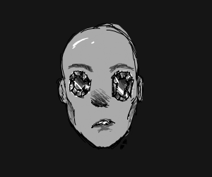 Man with gemstone eyes omg