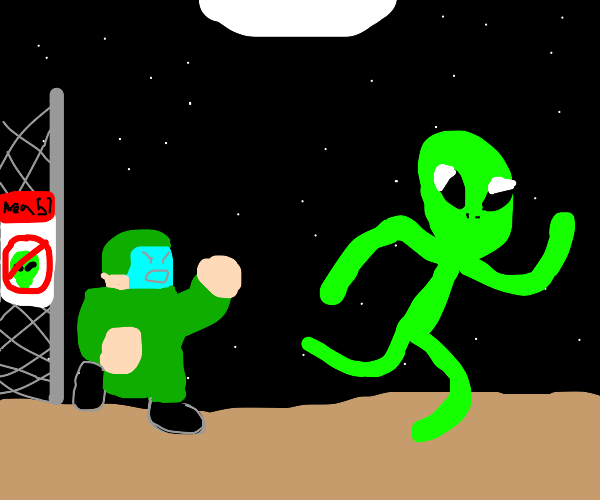 Area 51 alien escapes and is being chased