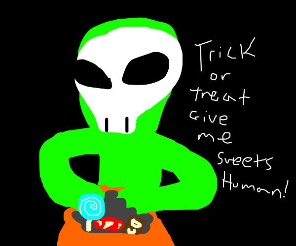 Alien trick or treating