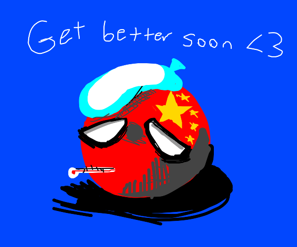 countryball china has the coronavirus