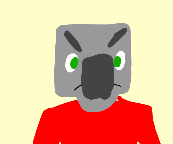 minecraft pillager with a red shirt