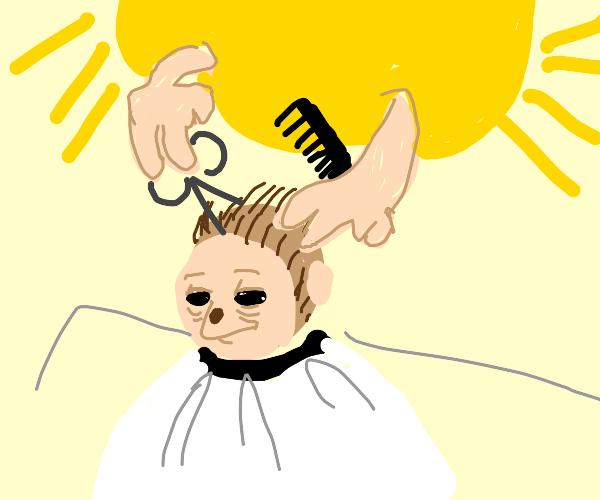 The Sun is Giving a Monkey a Haircut