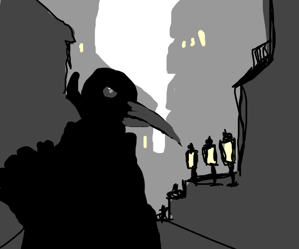 Bird man shadow dude