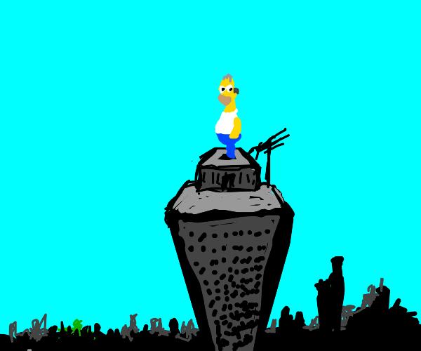 Homer is high.