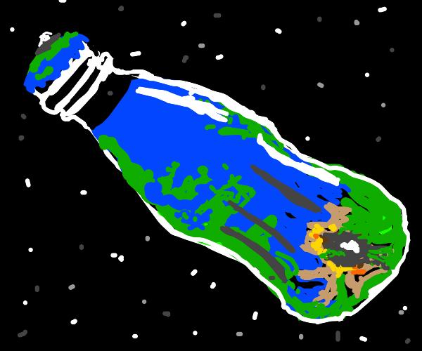 Planet in a bottle