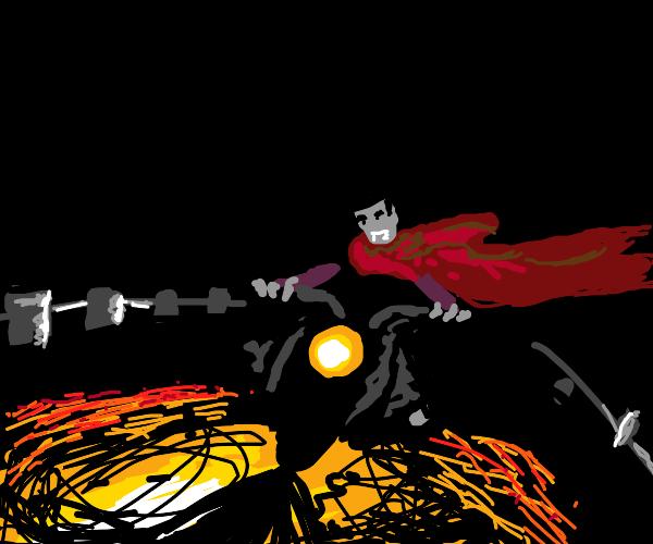 Vampire biker