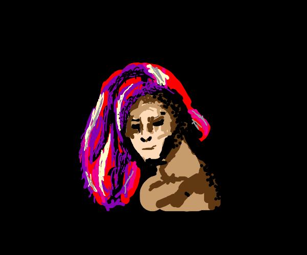happy redhead lady