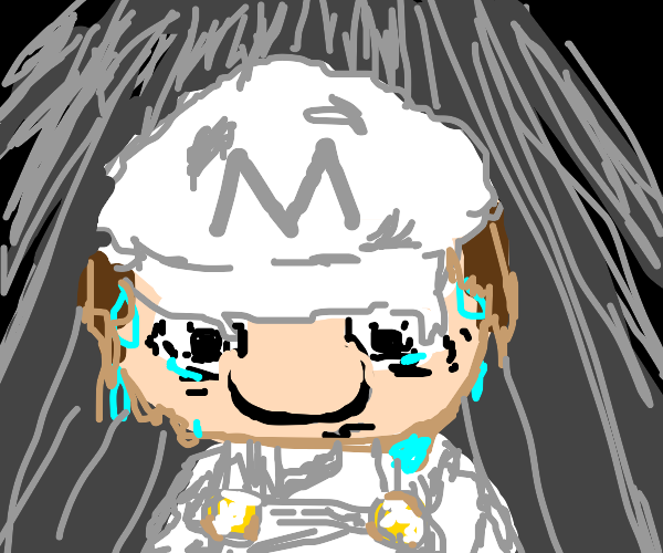 Mario with white clothes amd no stache is wor