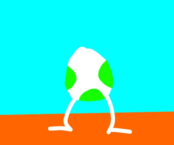 Yoshi egg with legs