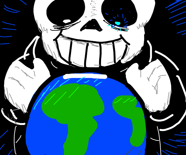 Sans is the GOD of the new world, as foretold