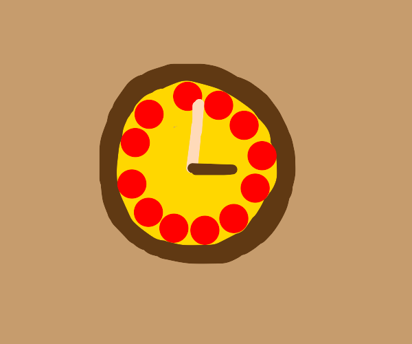 Pizza is a clock!