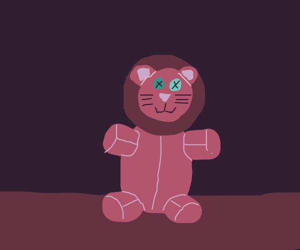 Cute purple Lion stuffed animal