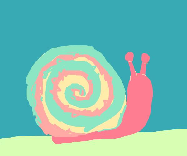tie dye snail