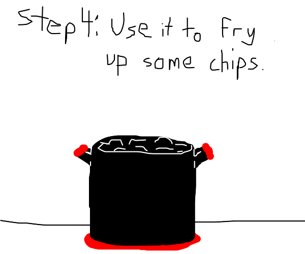 Step 3: Realize that's not oil,it's ketchup