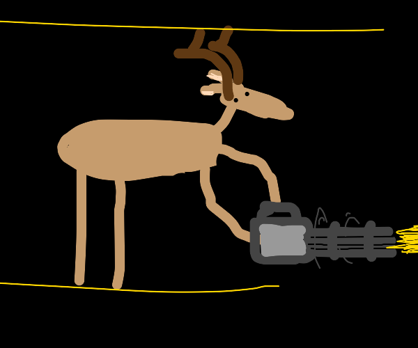 Deer in a Battle