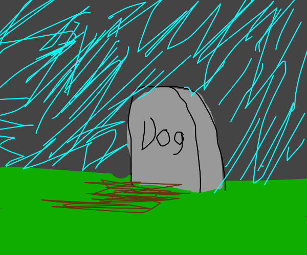 Grave for a dog