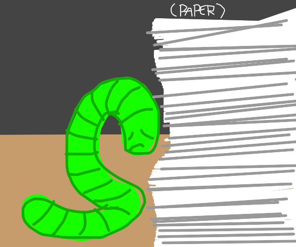 Worm is depressed due to paperwork