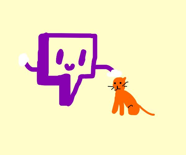 Twitch logo pets cat.