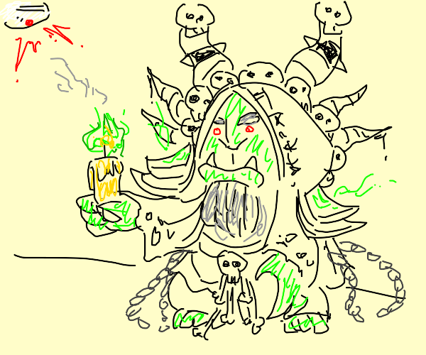 Warlock sets off fire alarm w/ spell candles