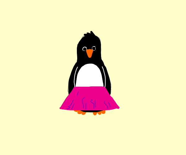 Penguin In A Skirt