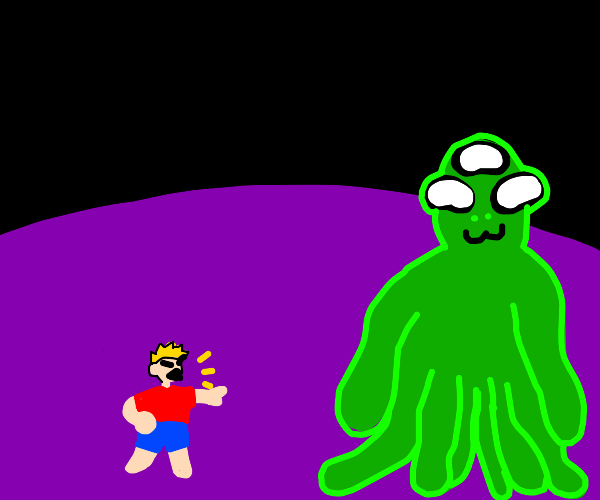 Person tells big friendly alien to leave :(