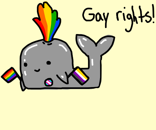 Whale advocates for gay rights