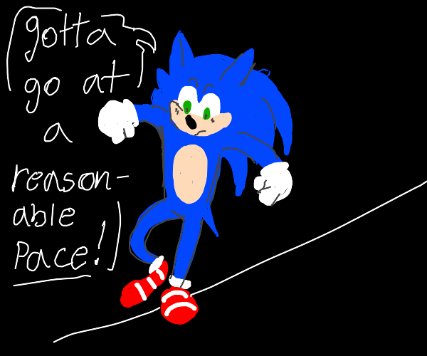 Sonic tightrope walking