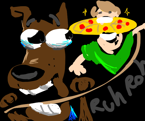 Pizza escapes Scooby