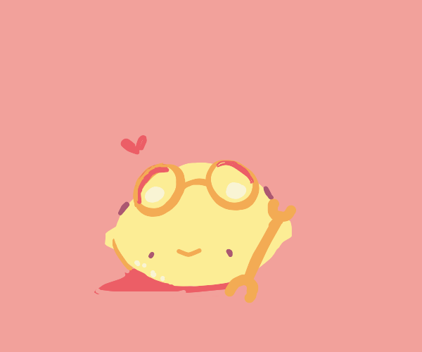 Cute lemon mechanic with goggles and a wrench