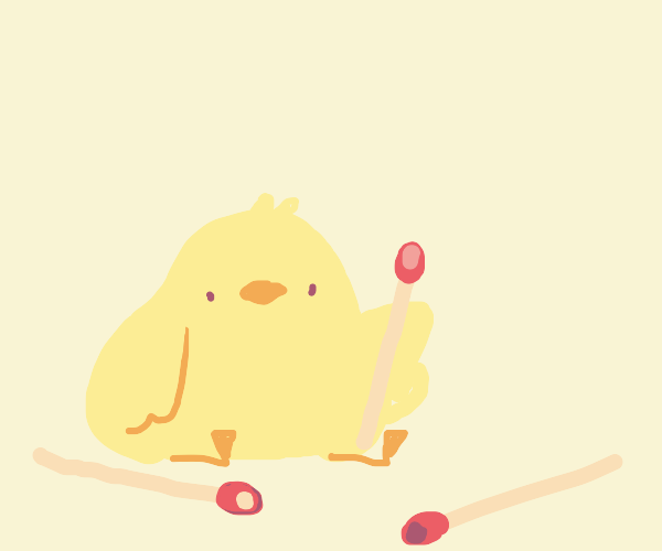 Bird with matches