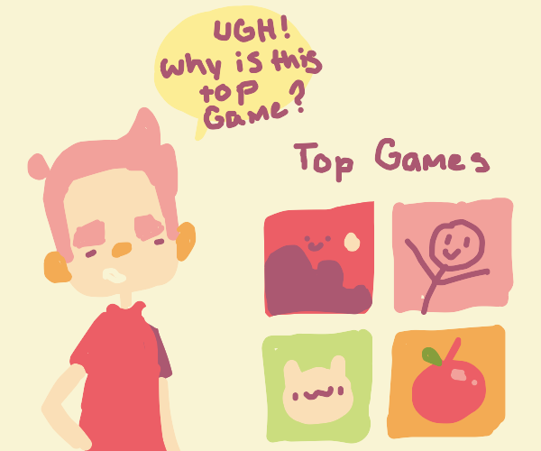 boy complains about top game