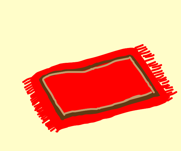Red and brown rug