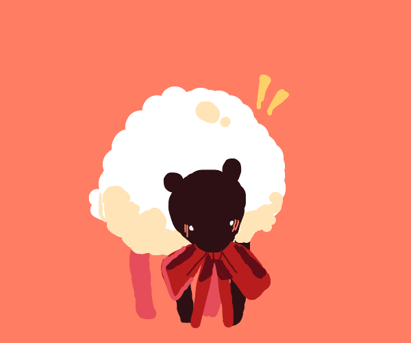 Fluffy Sheep With Ribbon