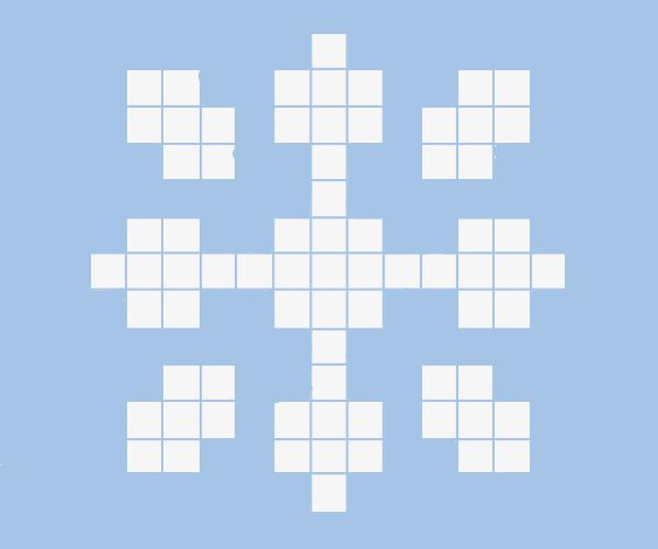 A pixel snowflake