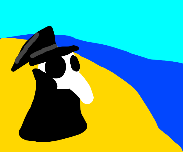 Plague Doctor on the Beach